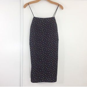 NWOT Topshop Polka Dot Spaghetti Strap Mini Dress